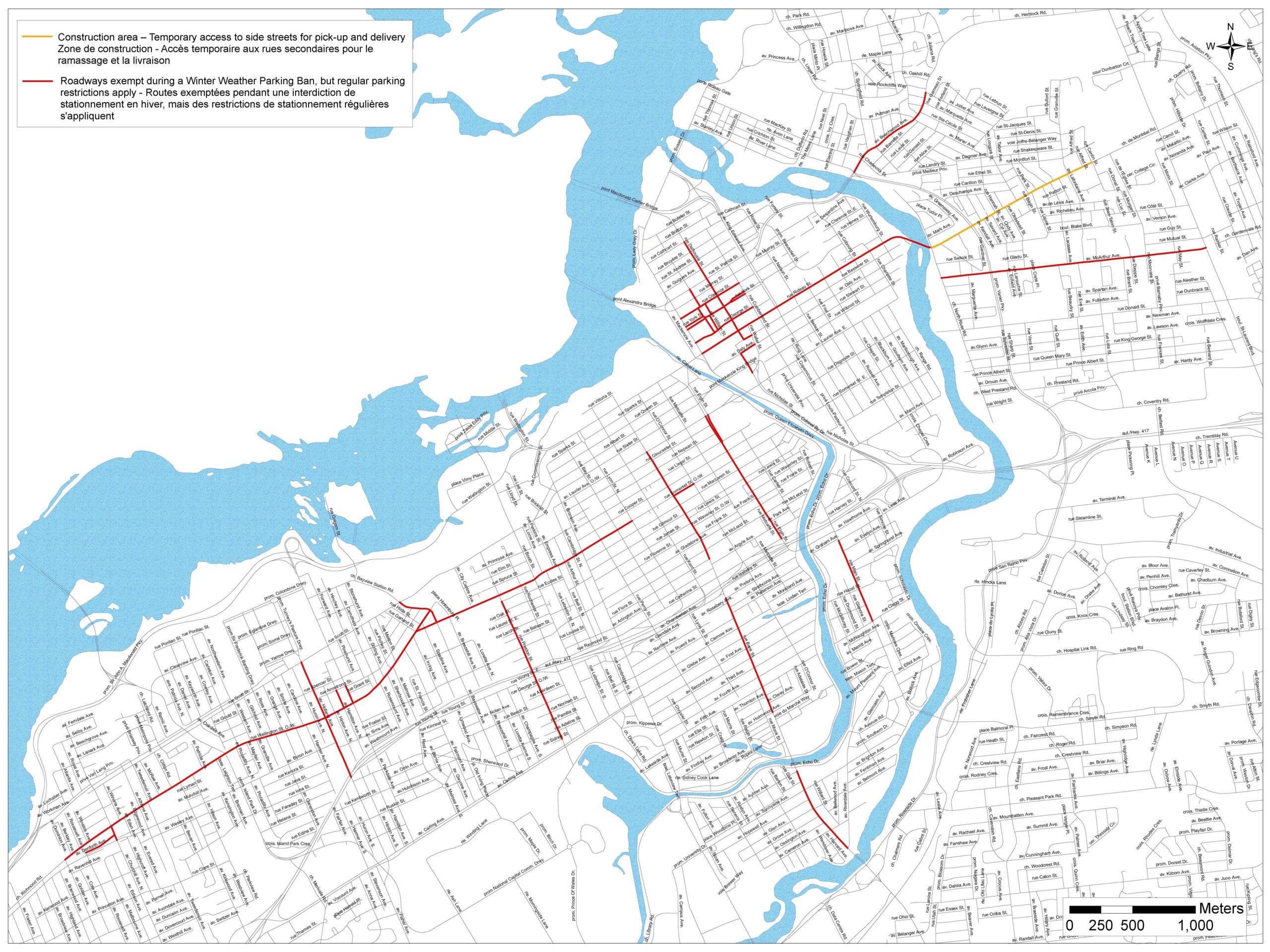 Winter Weather Parking Ban Exemptions - Ottawa BIAs